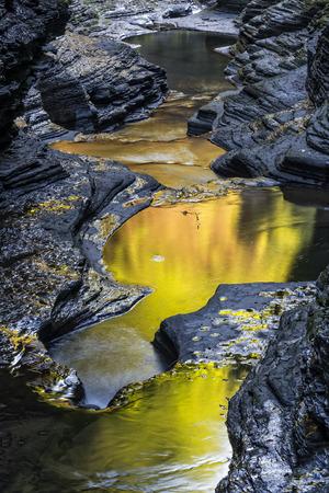 seneca: Watkins Glen State Park At Sunrise Stock Photo