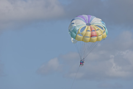 parasailing: Parasailing In Punta Cana -  With Room For Copy Space To The Left
