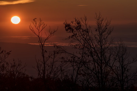 wilson: Sunrise Over Black Mountain At The Justin P. Wilson Cumberland Trail State Park In Tennessee