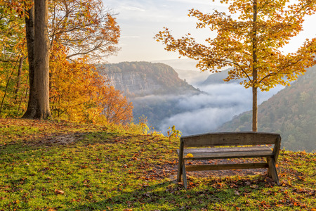 Early Morning Sunrise At Letchworth State Park In New York