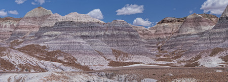 mesa: Panoramic View Of Blue Mesa At The Petrified Forest National Park