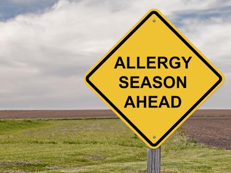 estacion: Muestra de la precaución - Alergia temporada por delante Foto de archivo