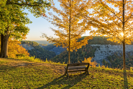 state park: Early Morning Sunrise At Letchworth State Park In New York