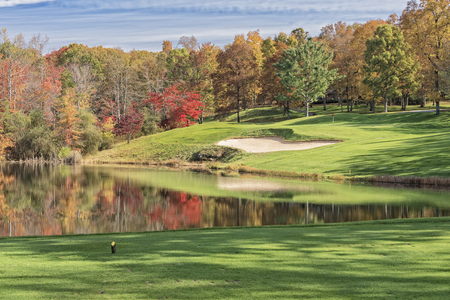 glade: Hole #4 At Druid Hills Golf Course In Fairfield Glade Tennessee Stock Photo