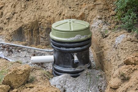 Installatie van een Molen Pomp Holding Tank