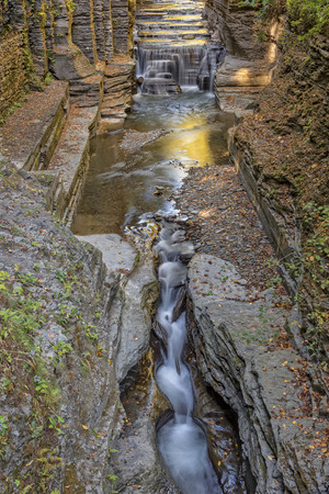 enfield: Enfield Creek Flowing Though The Robert H. Treman State Park in New York