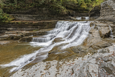 Waterfalls At The Robert H. Treman State Park In Trumansburg, New York
