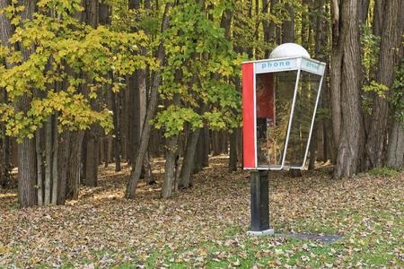 cabina telefono: Al aire libre cabina de teléfono en Letchworth State Park en Nueva York