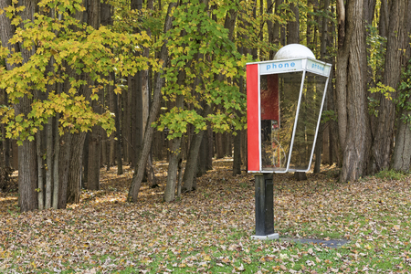 Outdoor Phone Booth Op Letchworth State Park in New York