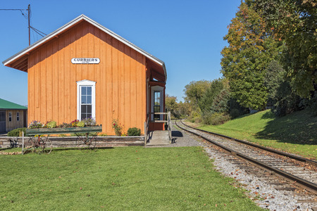 Old Vintage Train Depot At Curriers New York Stock fotó