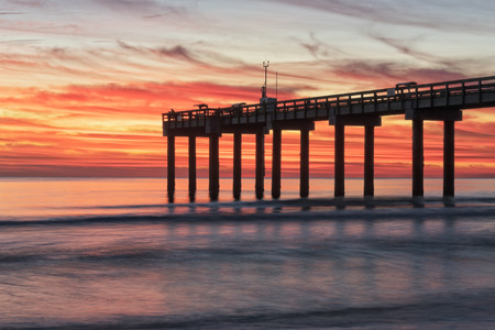 pilings: Sunrise On The Beach In St. Augustine Florida