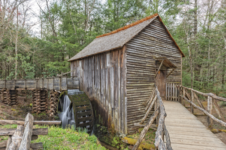 great smoky national park: The John P. Cable Grist Mill At Cades Cove In The Great Smoky Mountains National Park Stock Photo