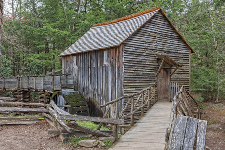 smoky: The John P. Cable Grist Mill At Cades Cove In The Great Smoky Mountains National Park Stock Photo