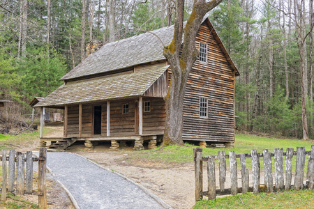 smoky: The Henry Whitehead Cabin, at Cades Cove, Great Smoky Mountains National Park, Tennessee