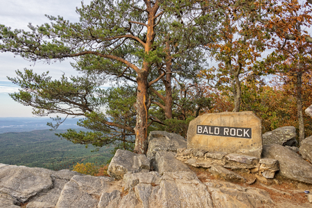 overlook: Bald Rock Overlook At Cheaha Mountain State Park In Alabama Stock Photo