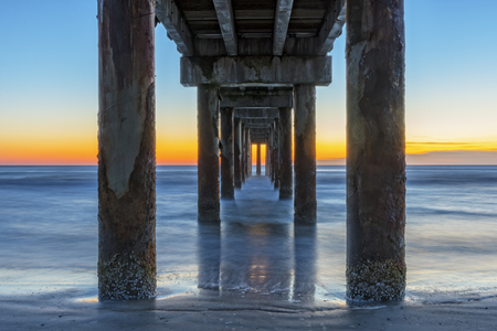 Sunrise Under The Pier In St. Augustine Florida