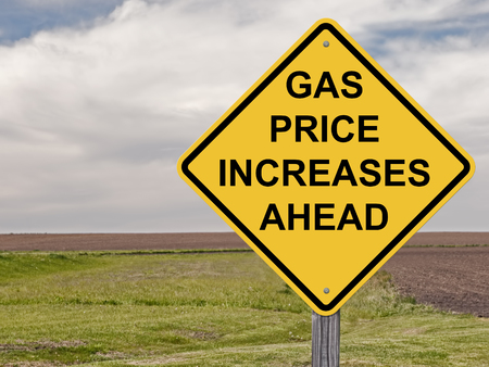 Caution Sign - Gas Price Increases Ahead