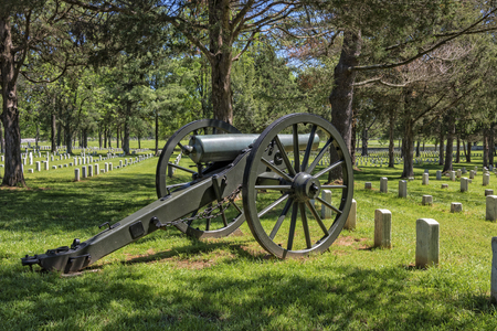 Cannon At The Stones River National Battlefield And Cemetery In Murfreesboro Tennessee
