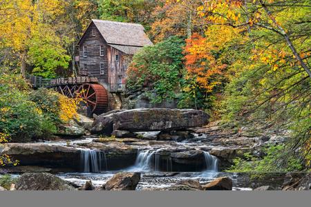 Glade Creek Grist Mühle im Babcock State Park in West Virginia
