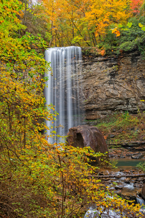 Hemlock Falls At Cloudland Canyon State Park In Rising Fawn Georgia During The Autumn Season