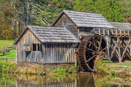 Mabry Mill Is Along The Blue Ridge Parkway In Virginia 版權商用圖片