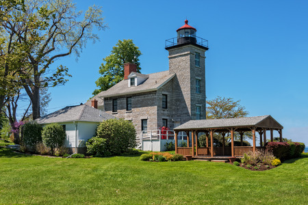 Sodus Point Lighthouse In New York Stock Photo