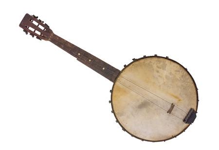 Vantage Banjo - Rim gemaakt van een Cornsifter Stockfoto