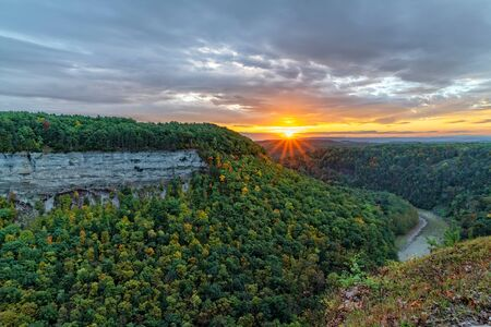 Sunrise At The Archery Field Overlook In Letchworth State Park In New York
