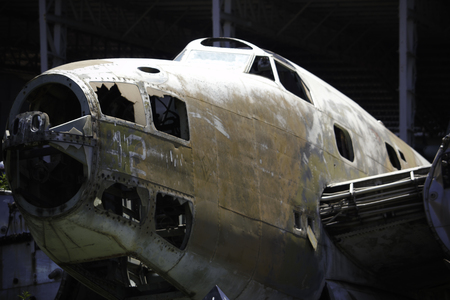 Rusty Old Hudson Bomber Fuselage Close-up 免版税图像