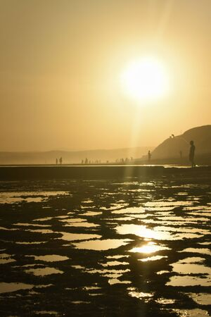 Golden Rock Pools On Hot Summer Beach, Mossel Bay, South Africa