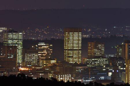Pretoria City Central Lights At Night, South Africa