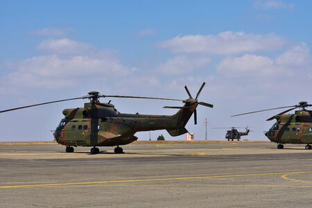 Atlas Oryx Helicopters On Airfield, Pretoria, South Africa