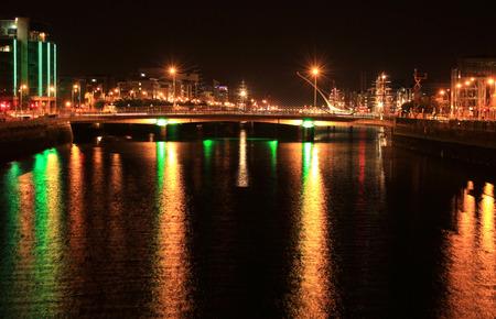 dublin city background Night