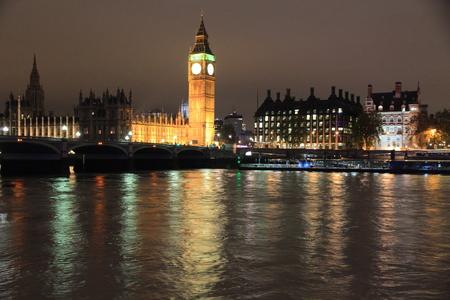 Londra Big Ben on Thames Archivio Fotografico - 45888804