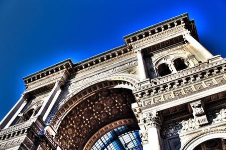 Galleria Vittorio Emanuele a Milano, architettura e turismo Archivio Fotografico - 47203395