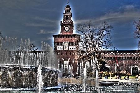 Castello Sforzesco Milan, monuments