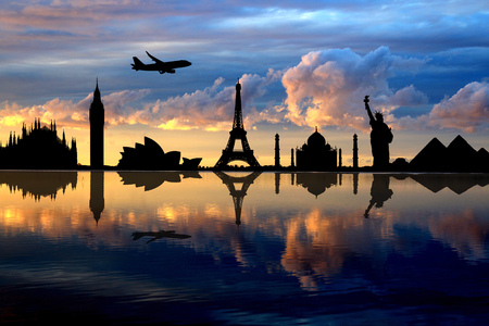monuments that are reflected in the water