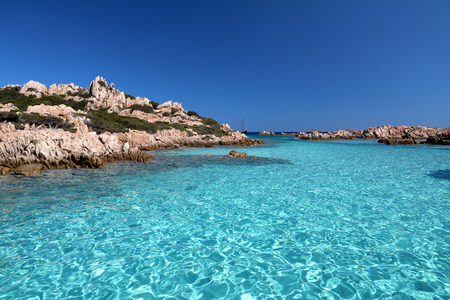 Crystal clear waters and pristine sea of ??Sardinia Imagens