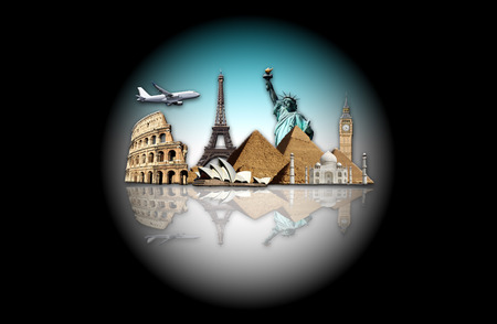 Il mondo nella bolla di vetro Archivio Fotografico - 82680336