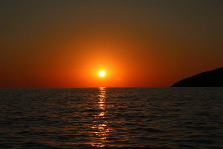 Summer sunset on vacation