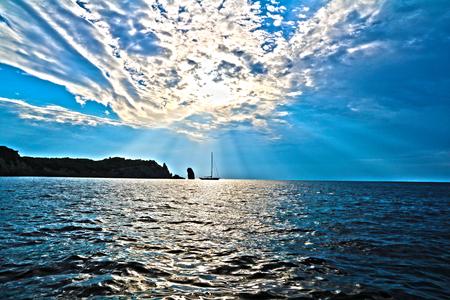 Surreal colors of pristine sea