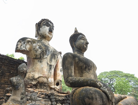 The temple take a photo at Sukhothai, Thailand