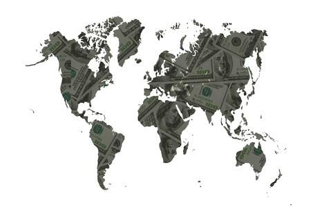smacker: The world of money for concept make money  Stock Photo