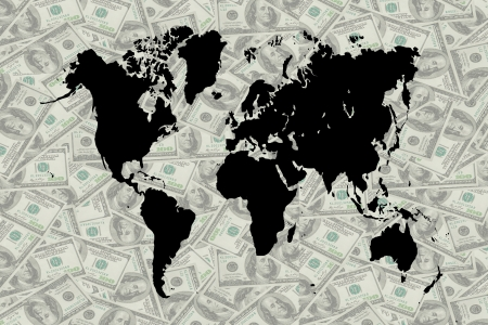 smacker: The money and world map for decorate