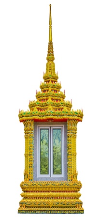 The window symbol buddha design at Wat Chalong, Phuket, Thailand   photo