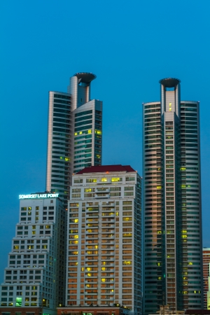 The modern city design at Bangkok, Thailand  photo
