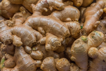 heap of ginger root  photo