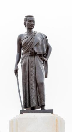 angel de la independencia: Monumento Suranaree en Nakornrhatchasima, Tailandia.