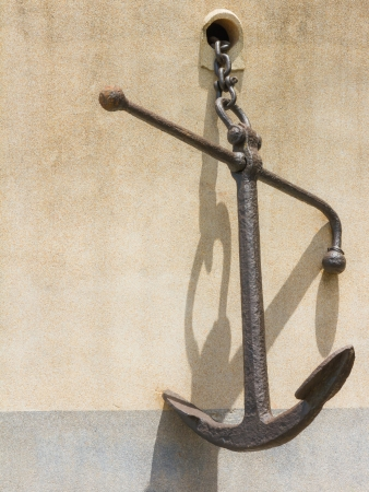 The single anchor for decorate. photo