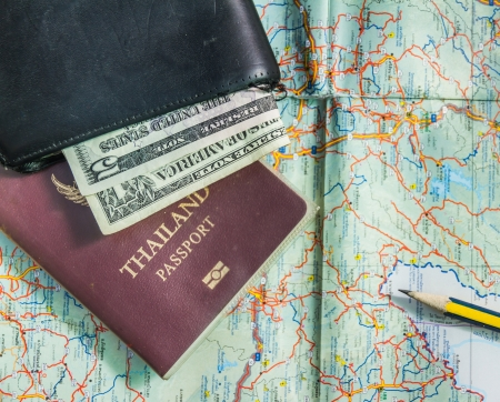 thai language: The planing trip on holiday day. Stock Photo